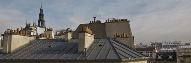 vue fenêtre chambre d`hôte bed & breakfast Paris